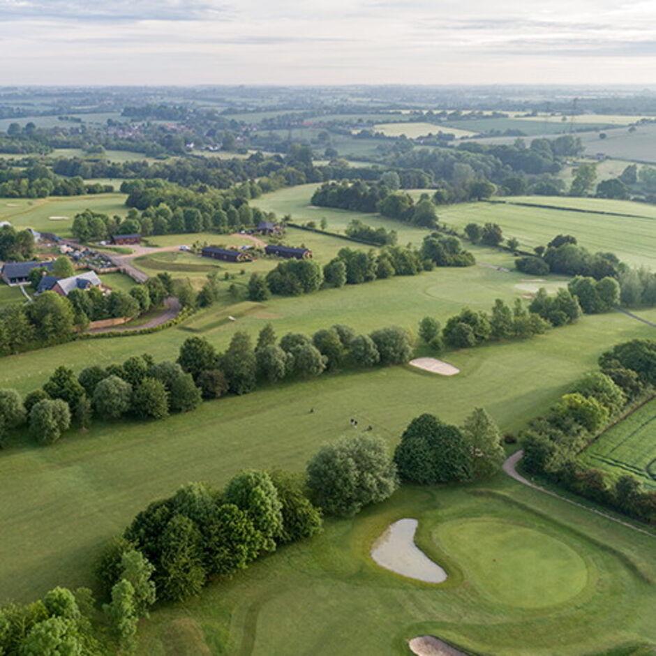 Fynn Valley Golf Courses Ipswich. Overlooking Fynn Valley